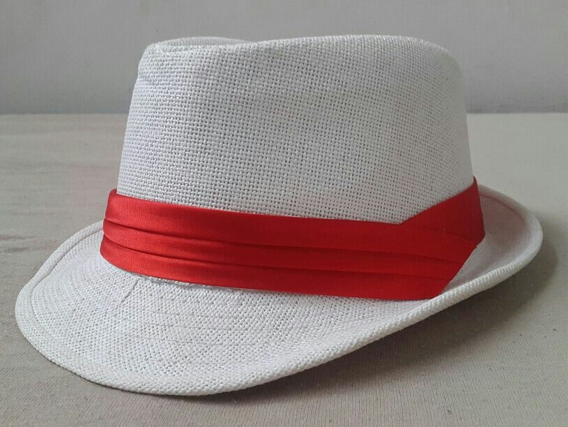 chapéu branco fedora panama samba fantasia. Carregando zoom. ea0727aca9d