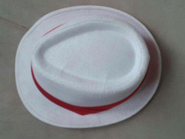 Chapéu Branco Fedora Panama Samba Fantasia - R  45 7f9cb7bde2d