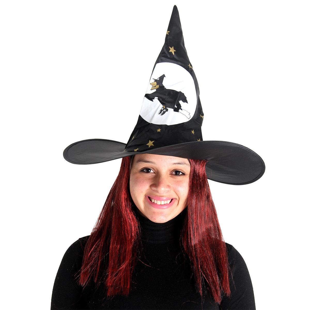 chapeu bruxa com cabelo halloween - sulamericana. Carregando zoom. c266fee39fc