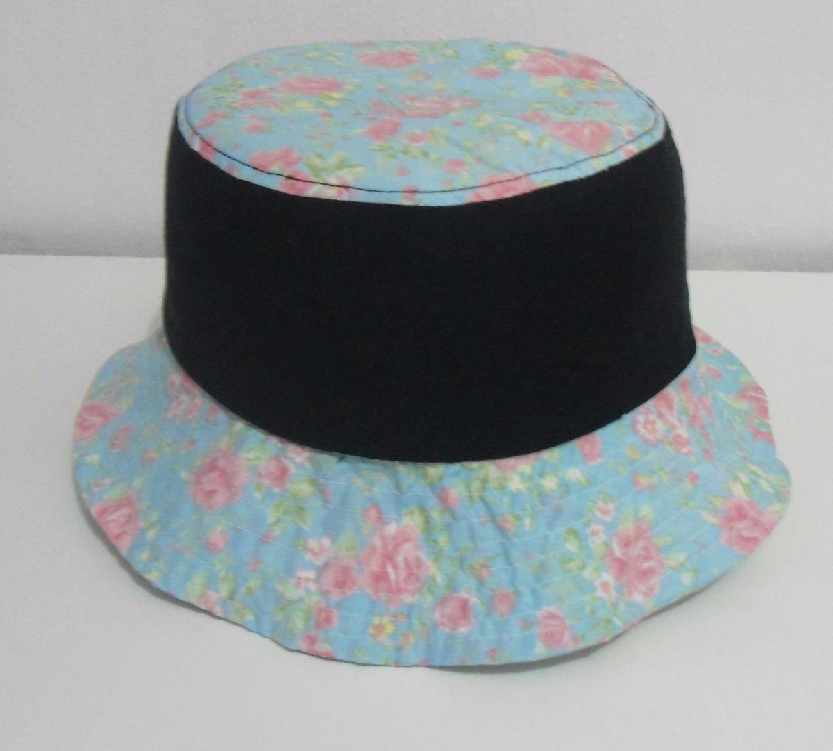 Chapéu bucket hat swag cris brown preto colorido floral moda carregando  zoom jpg 1200x1081 Bucket hat 3ba012b78d51
