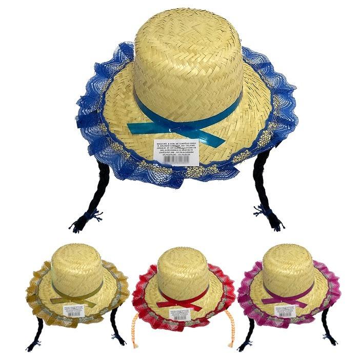 Chapéu Caipira Mocinha C  Trança - Festa Junina - R  9 f1fcdb4dd8d