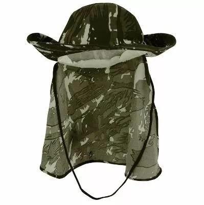 5be6bf99f31ba Chapeu Camuflado Pescador Com Protetor Nuca Menor Preço - R  14