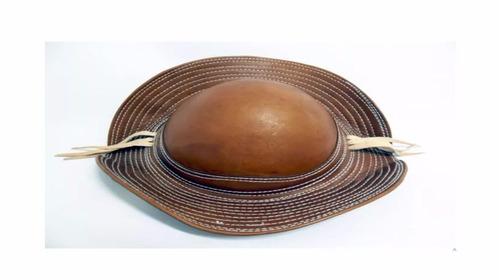 chapéu cangaceiro. original. em couro legítimo. frete grátis