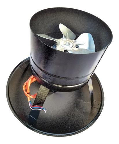 chapéu chines com exaustor p/ churrasqueira ø 200mm + dimmer