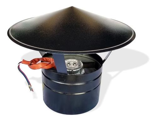 chapéu chines com exaustor p/ churrasqueira ø 230mm + dimmer