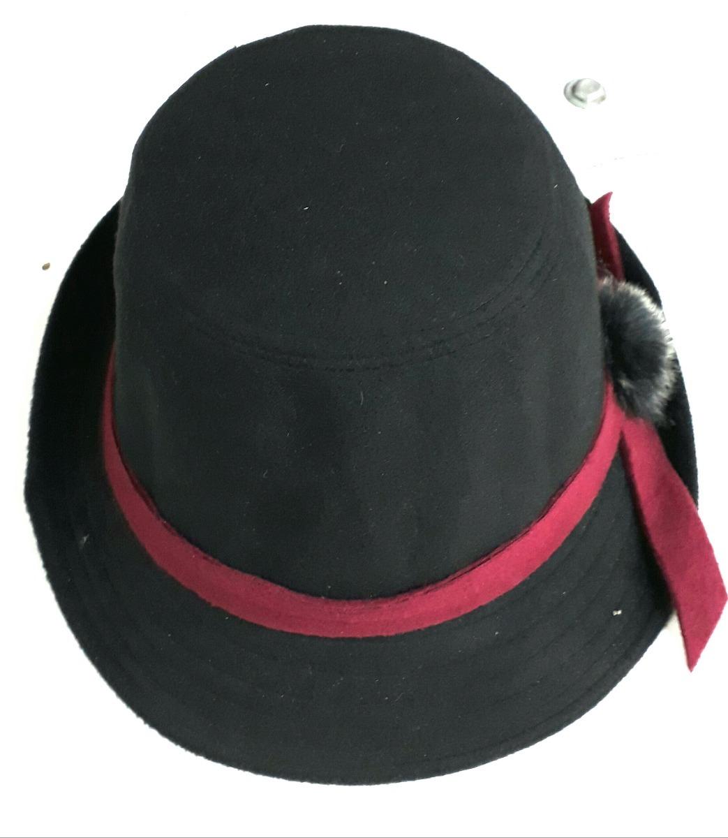 d0357ec2e1304 chapéu clássico côco aba curta feltro lã preto feminino. Carregando zoom.