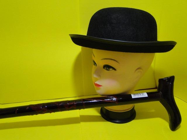 a310d5d1e06ca Chapeu Coco Charles Chaplin Mais Bengala E Bigode De Magico - R  199 ...