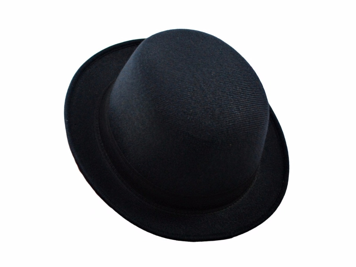 chapéu coco clássico preto chaplin chapelaria vintage. Carregando zoom. f56d2e30ae2