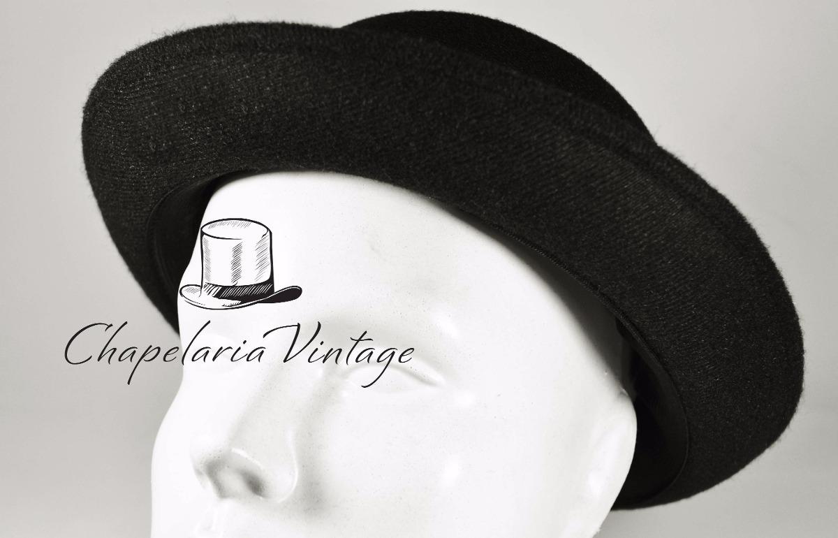 chapéu coco preto bowler chaplin lã retro qualidade top. Carregando zoom. 8cb8b9c6c9b