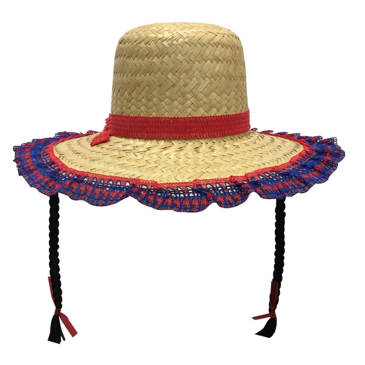 chapéu com trança - festa junina. Carregando zoom. 039ea690c05