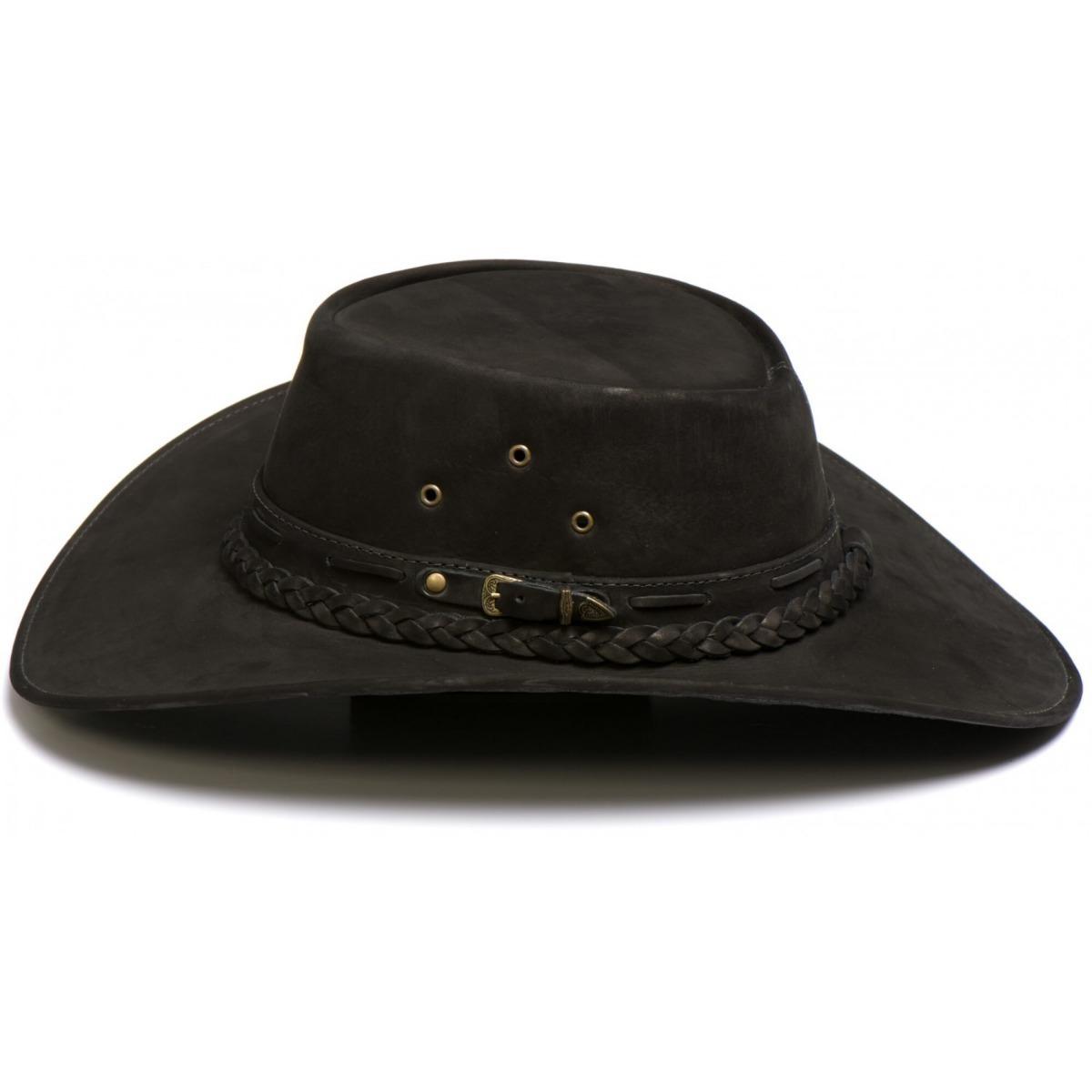 chapéu country aba larga couro legitimo preto frete grátis. Carregando zoom. 5edef05b49d