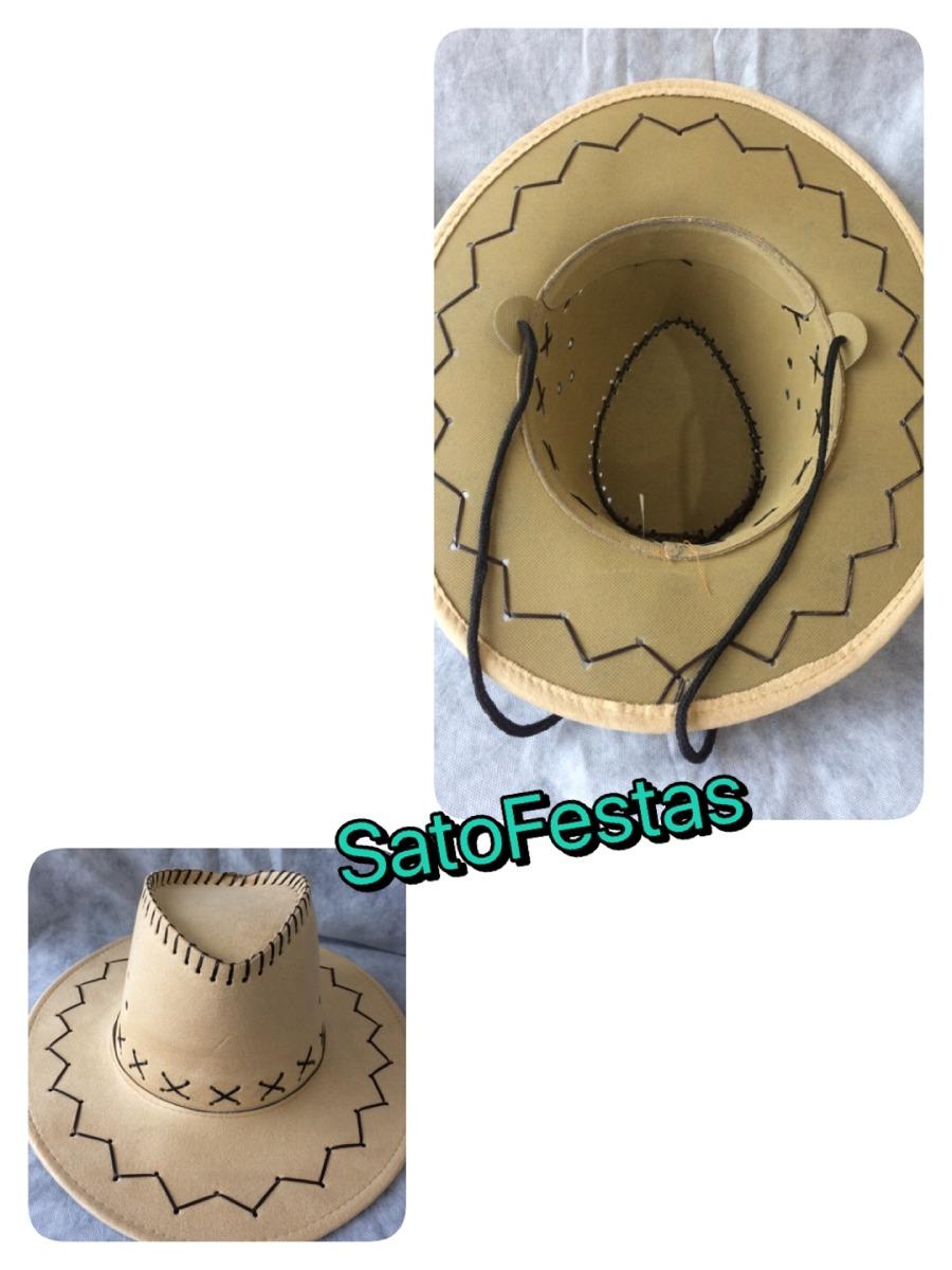chapeu country cowboy bege sintetico. Carregando zoom. 7902ff65a47
