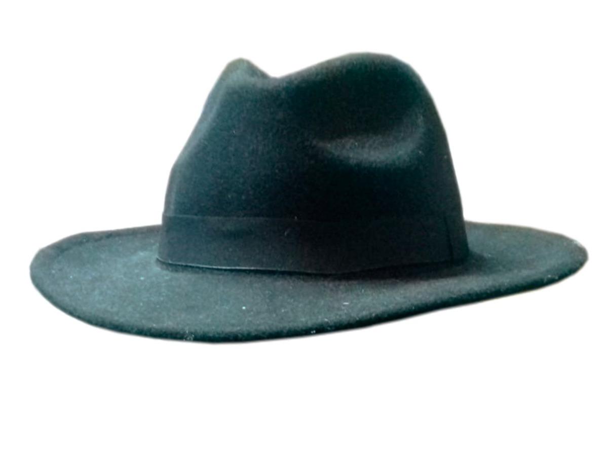 20b429ff21cff Chapéu Country Cury Preto Adulto Estilo Indiana Jones - R  33
