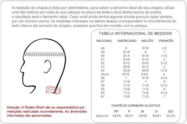 Chapéu Country Eldorado Company Copa Alta Barra Bonita - 185 - R ... ebb6f55c590