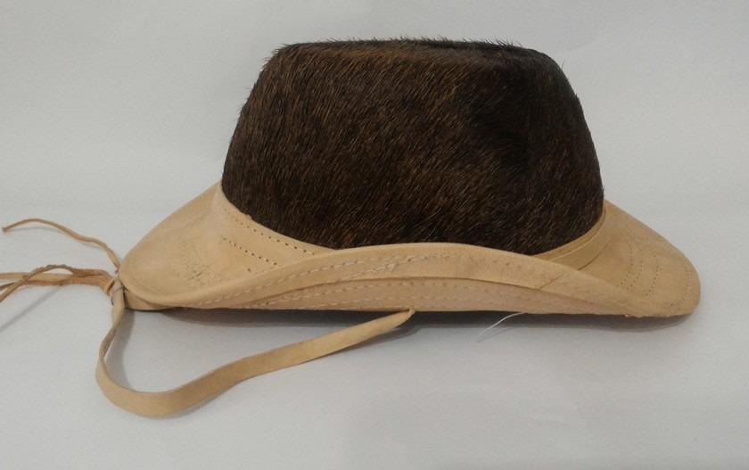 chapéu couro country cowboy vaqueiro com pelo infantil. Carregando zoom. a587a45ab7b