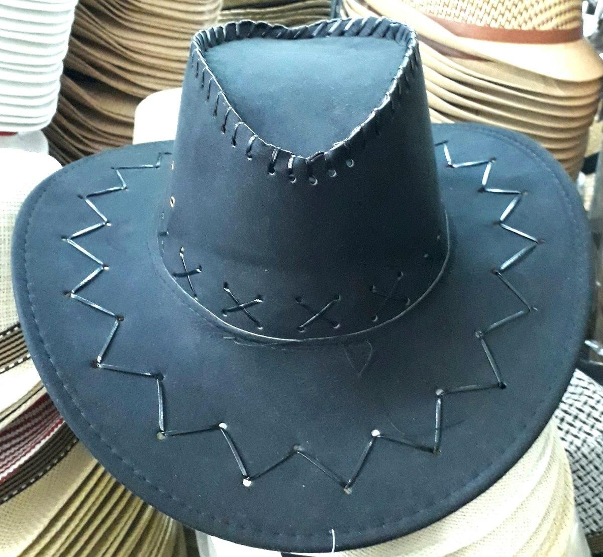 chapéu couro preto country cowboy festa vaquejada barreto. Carregando zoom. 680b3b2af12