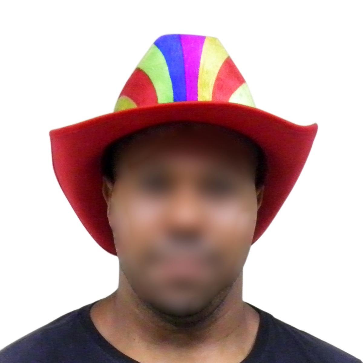 chapeu cowboy kit 3 festa carnaval baile fantasia colorido. Carregando zoom. f3ce6690cf1