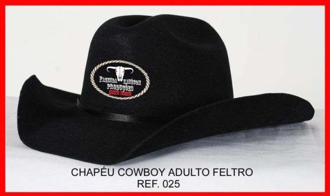 Chapéu Cowboy Personalizado Country Festa Rodeio - R  79 05d463f69d7