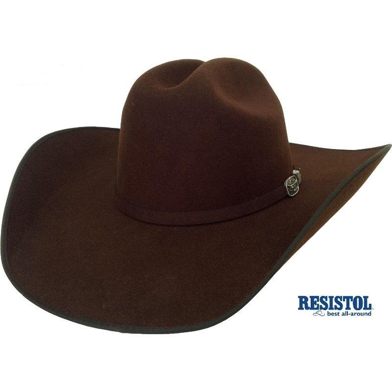 77c2a56b7ec5c chapeu cowboy resistol 4x longhorn importado marron feltro. Carregando zoom.