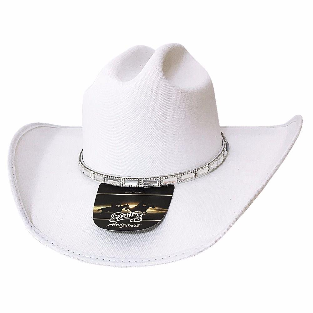 f47aeb30df Chapéu Dallas Country Feminino Branco Gelo 6024 - R$ 199,99 em ...