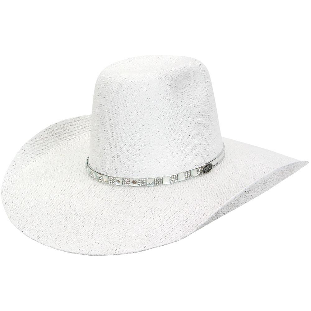 8fc22441fb chapéu dallas feminino branco silver line strass be-03256. Carregando zoom.