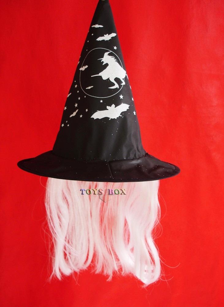 chapéu de bruxa infantil c  cabelo halloween festa fantasia. Carregando  zoom. 2a8b744898d