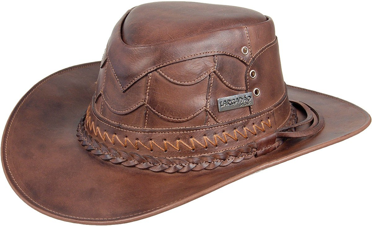 chapéu de couro legitimo bovino escamado country largadão. Carregando zoom. 29ec7950f08