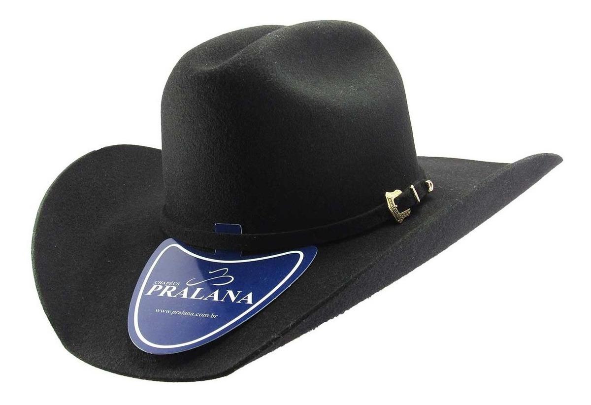 44a94f45ac Chapéu De Cowboy Pralana Country Em Feltro Classic Preto
