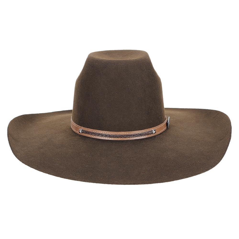chapéu de feltro marrom aba larga texas diamond 23210. Carregando zoom. 5120d245f1f