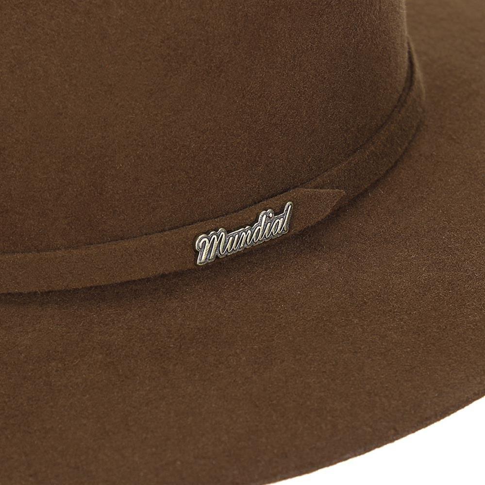 44f7d855b5edf chapéu de feltro social lã marrom - mundial 19005. Carregando zoom.