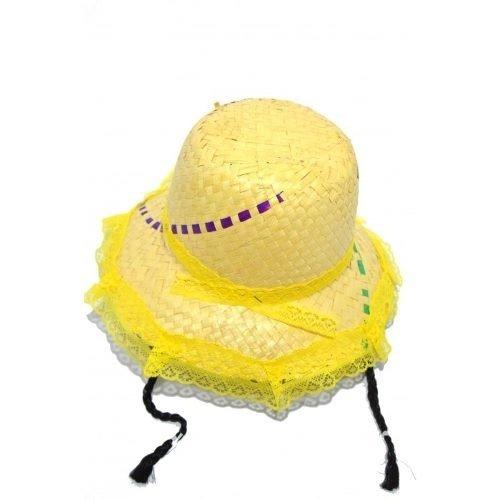 Chapéu De Palha Caipira Com Trança Festa Junina Dança Menina - R  29 ... fdb249d131a