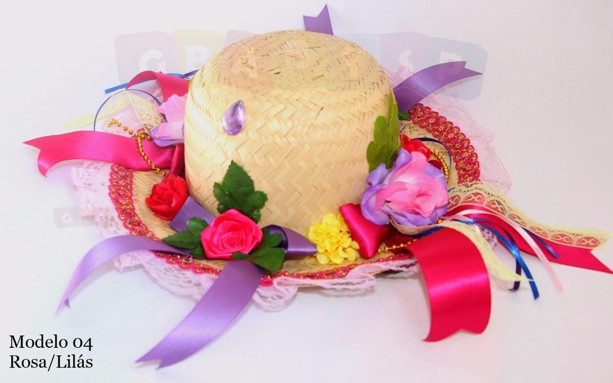 chapéu de palha decorado festa junina enfeite cabelo criança. Carregando  zoom. 0694efed4e9