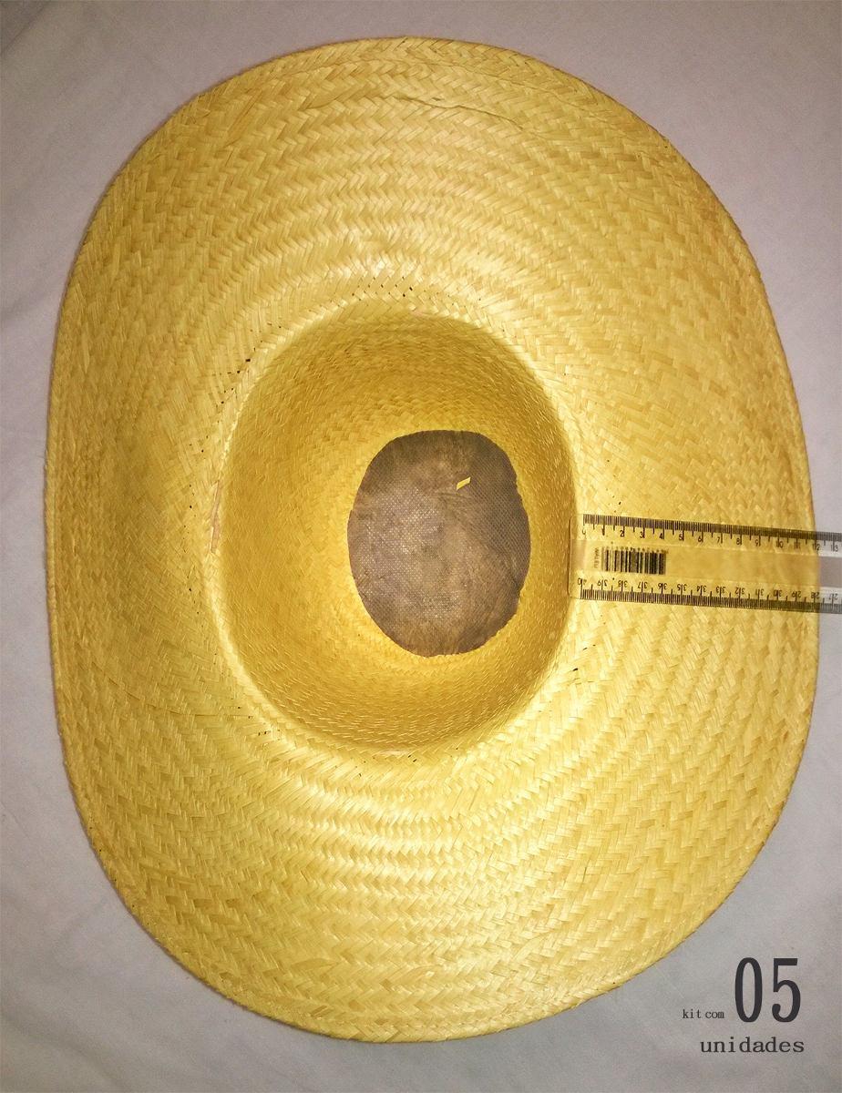 chapéu de palha fina carandá pantaneiro - kit com 5 unidades. Carregando  zoom. c399ff7a258