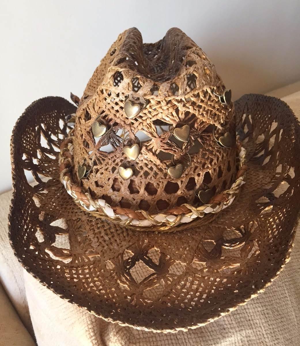 chapéu de palha - hat cowboy. Carregando zoom. d68e1c5bad8