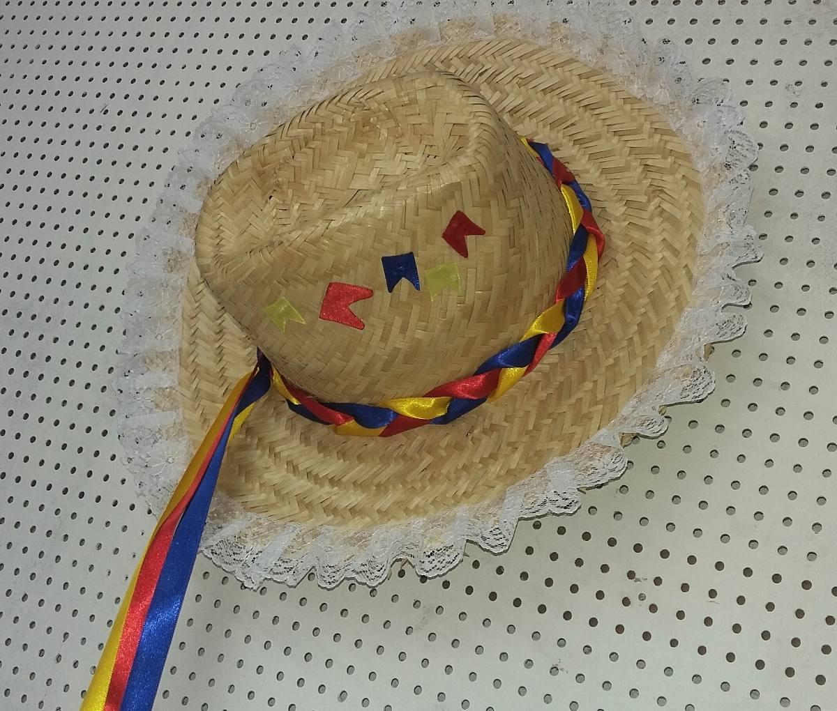 chapéu de palha junino personalizado. Carregando zoom. 250b99f69ff