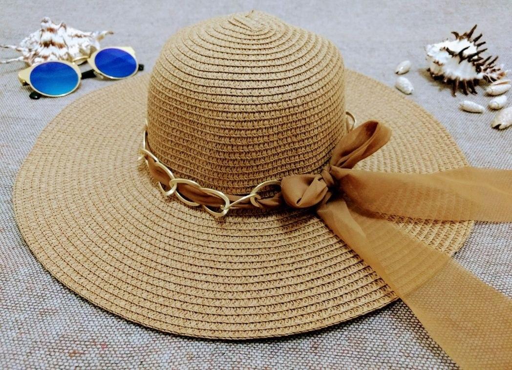 7b1a32a01916e Chapéu De Palha Moda Praia Aba Grande 12cm Várias Cores - R  29