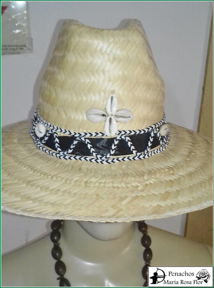 Chapéu De Palha Para Preto Velho Com Cordão Preto E Branco! - R  35 ... 354917c1912