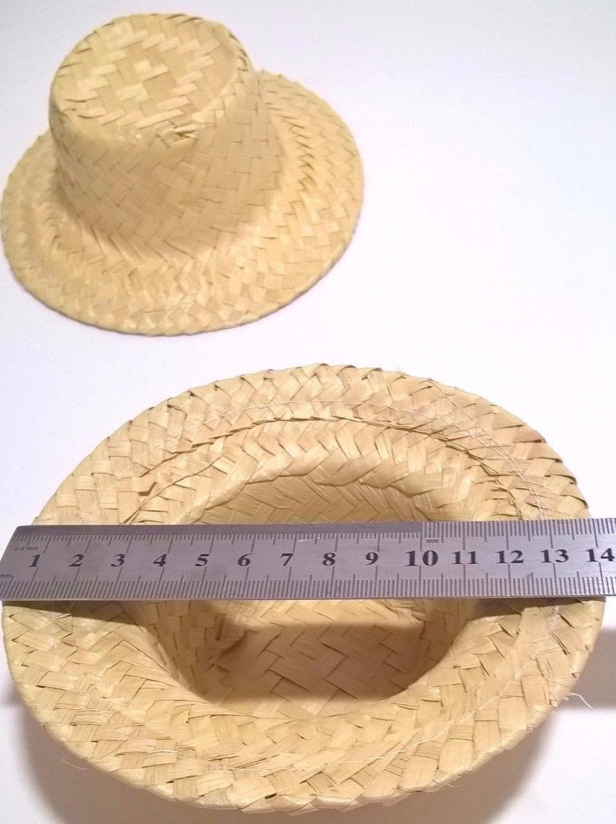 7008273c39f6a chapéu de palha pequeno lembrancinha junina enfeite 10 un. Carregando zoom.