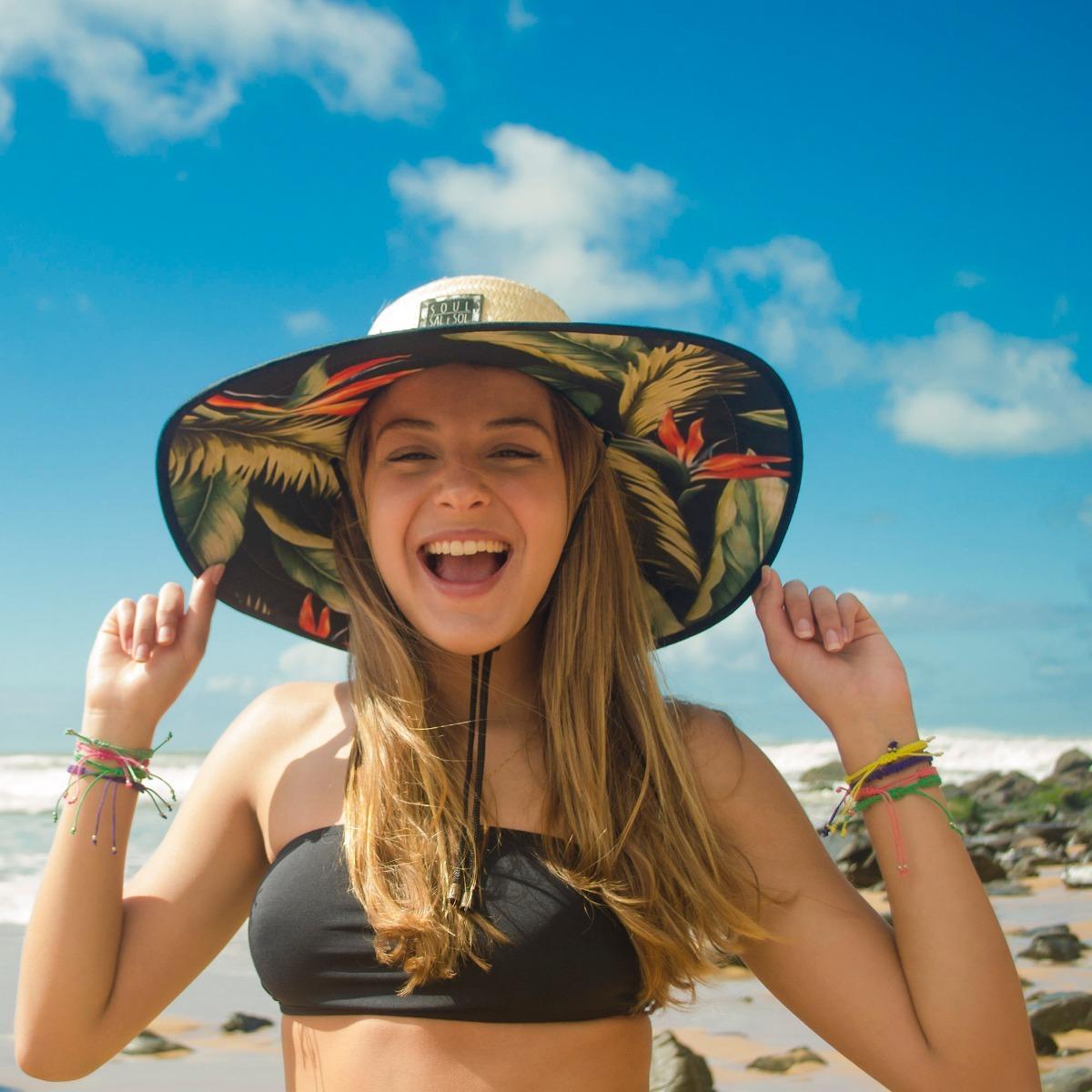 chapéu de palha praia praiano surf - estilo quiksilver. Carregando zoom. b1bfbacc8dc