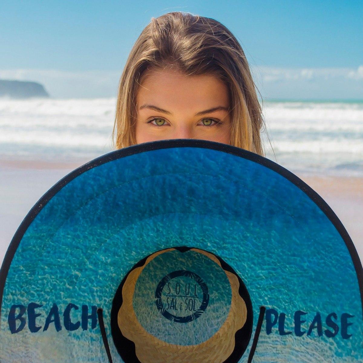 77d0aab9bdebb chapéu de palha praia surf tecido estampado floral e outros. Carregando  zoom.