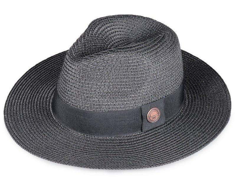 chapéu de palha preto fedora aba média masculino feminino. Carregando zoom. 76c0972647c