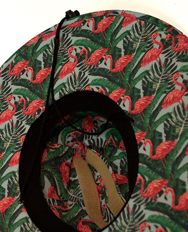 Chapéu De Palha Project Flamingo - Palha floral - R  149 db37449225f