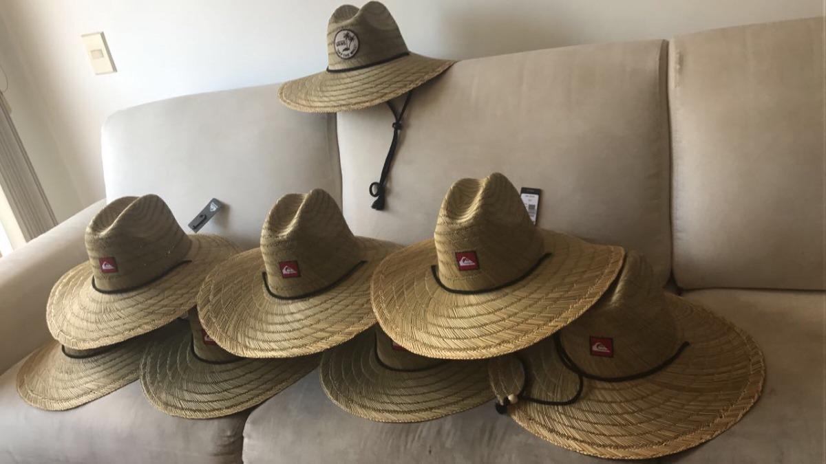 chapéu de palha quiksilver pierside surf importado xl. Carregando zoom. 223631f9af7