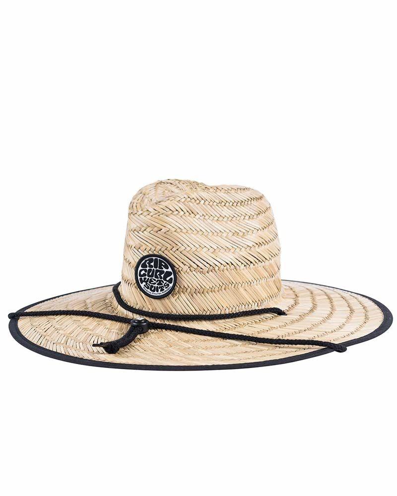 b240c8cbe8419 Chapéu De Palha Rip Curl Wetty Straw Hat - Palha preto - R  129