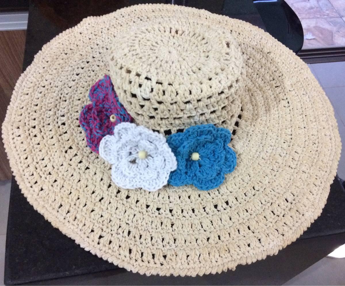 chapéu de praia de crochê. Carregando zoom. 99c3af8f0b0
