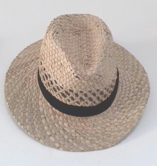 a1449096e6 Chapéu De Praia Estilo Panamá Feminino Palha Natural - R$ 49,90 em ...