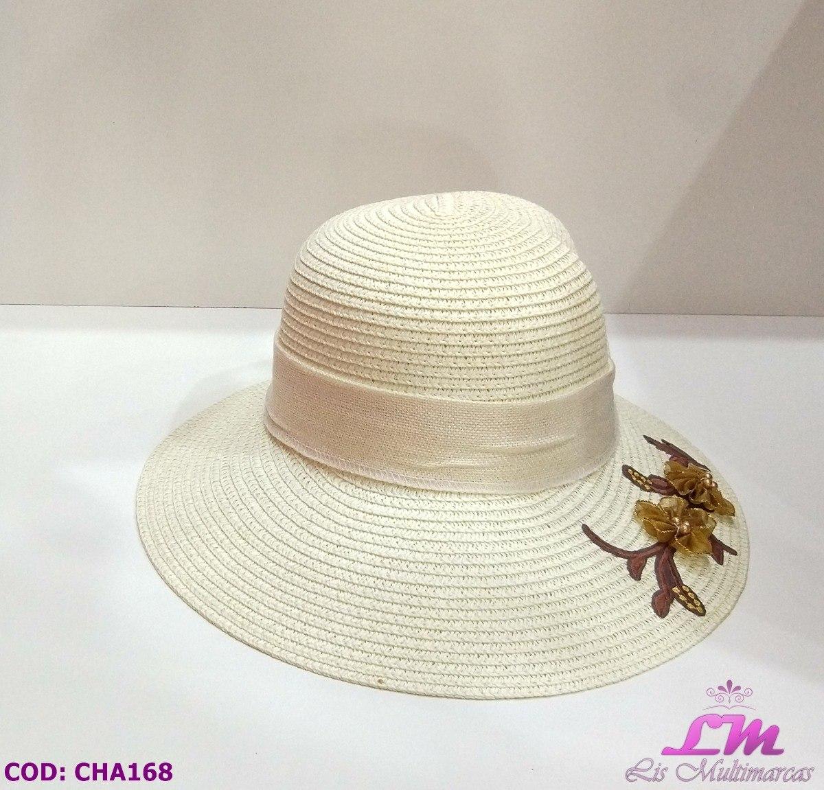 Chapéu De Praia Floppy (palha Claro) C  Lenço E Flor Na Aba - R  38 ... f3bb6c8cd5b
