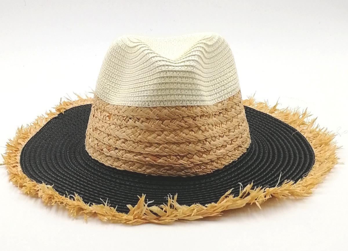 chapéu de praia palha preto (panamá). Carregando zoom. 4bd3b63e108