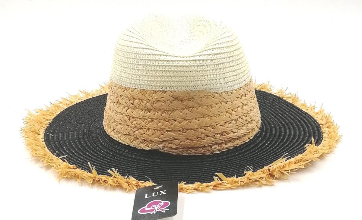chapéu de praia palha preto (panamá). Carregando zoom. 7c05c65a96e