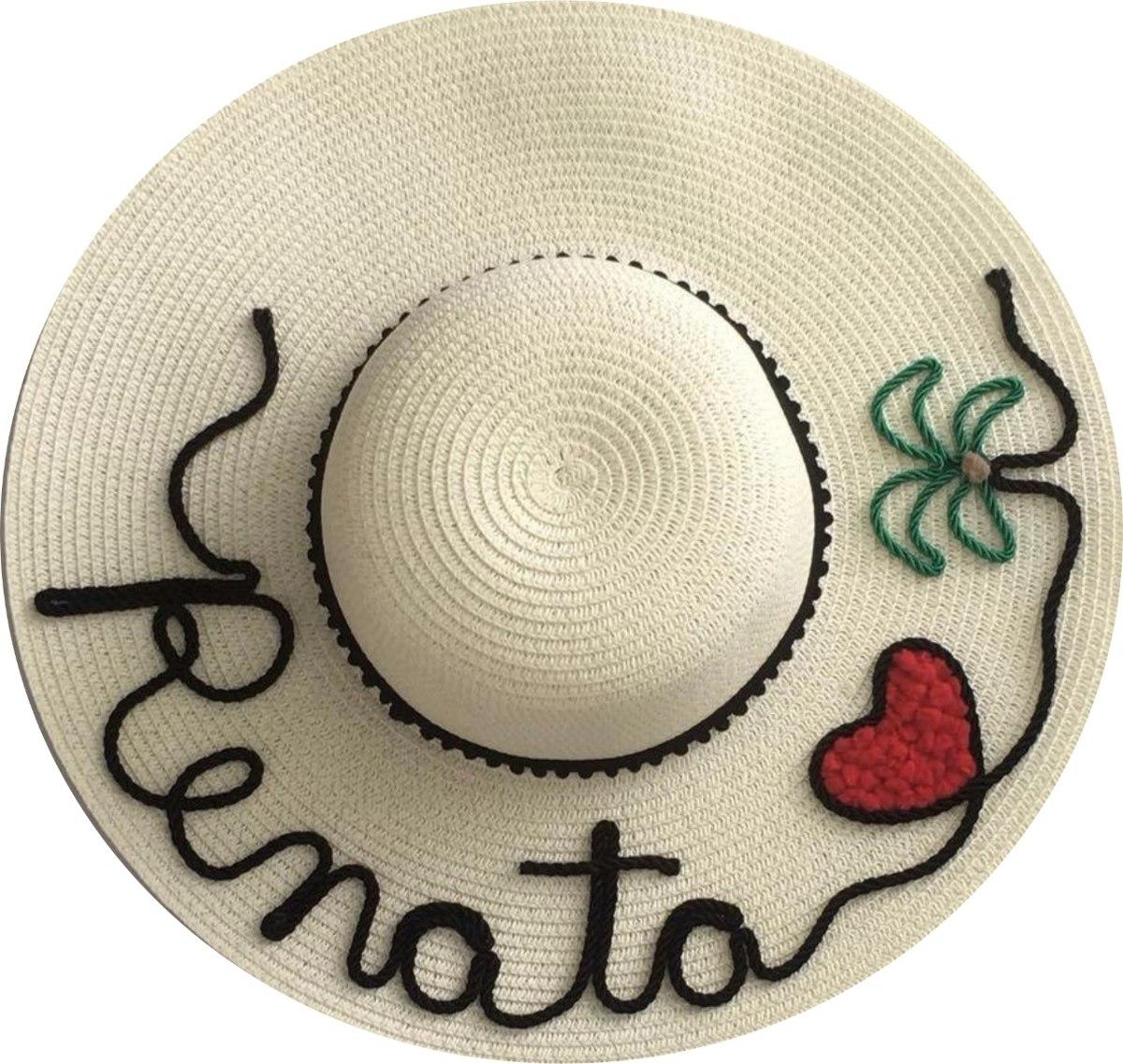 Chapéu De Praia Personalizado-chapéu Com Nome - R  48 c3418a0eebd